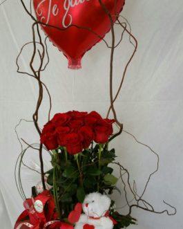 15rosas-oso-tarjetero-globo-caja-decoracion