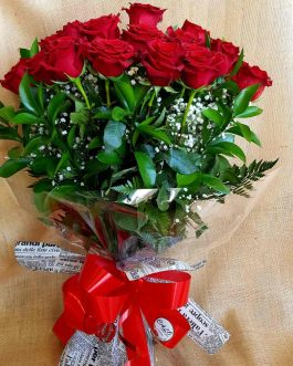 24 Rosas con verdes variados