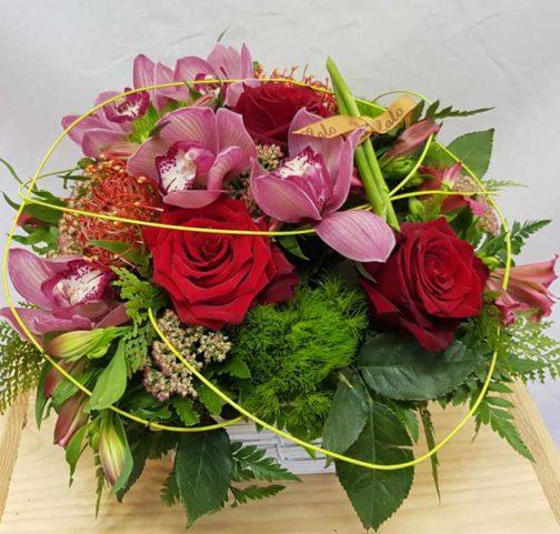 Cesta flores regalo CIMBIDIUM