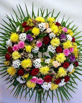 Corona redonda multicolor