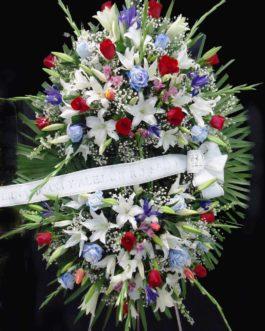Corona funeraria con color