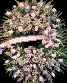 Corona funeraria tonos claros