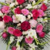 Almohadón rosa funeraria