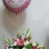 Centro primaveral con globo
