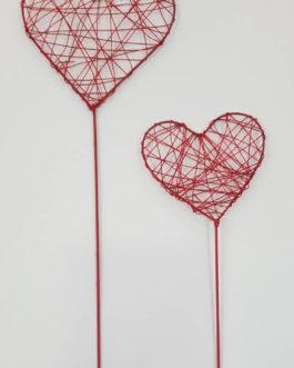 Corazón, acabado romántico