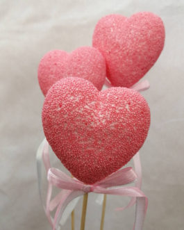 Acabado romántico corazones