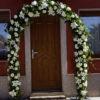 Decoración arco floral para boda